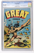 Golden Age (1938-1955):Adventure, Great Comics #1 Jubilee Variant (Novack, 1945) CGC VF 8.0 Cream tooff-white pages....