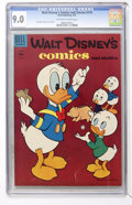 Golden Age (1938-1955):Cartoon Character, Walt Disney's Comics and Stories #174 (Dell, 1955) CGC VF/NM 9.0Off-white to white pages....