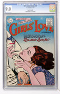 Golden Age (1938-1955):Romance, Girls' Love Stories #37 (DC, 1955) CGC VF/NM 9.0 Off-whitepages....