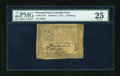 Colonial Notes:Pennsylvania, Pennsylvania October 1, 1773 2s PMG Very Fine 25....