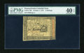 Colonial Notes:Pennsylvania, Pennsylvania October 1, 1773 5s PMG Extremely Fine 40 EPQ....
