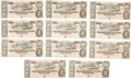 Military & Patriotic:Civil War, Eleven Consecutively Numbered 1864 Issue $10 Confederate Notes.... (Total: 11 Items)