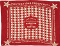 "Political:Textile Display (pre-1896), Harrison & Morton: ""Protection and Prosperity"" Bandana..."