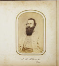 Military & Patriotic:Civil War, 100 Identified Confederate CDVs in Photo Album, ca. 1860s. ...