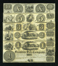 Obsoletes By State:Ohio, Franklin, OH- Franklin Silk Company $1; $2; $3; $5; $10 18__. ...(Total: 5 notes)