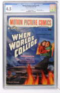 Golden Age (1938-1955):Science Fiction, Motion Picture Comics #110 When Worlds Collide (Fawcett, 1952) CGCVG+ 4.5 Cream to off-white pages....