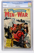 Golden Age (1938-1955):War, All-American Men of War #12 (DC, 1954) CGC VF/NM 9.0 Cream tooff-white pages....