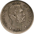 Coins of Hawaii, 1883 10C Hawaii Ten Cents XF45 NGC. NGC Census: (18/185). PCGSPopulation (43/261). Mintage: 250,000. (#10979)...