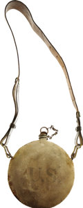 Military & Patriotic:Indian Wars, Indian War Vintage U.S. Regulation Canteen with Shoulder Strap, ca. 1880s. . ...