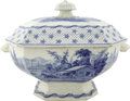 Political:3D & Other Display (pre-1896), William Henry Harrison: Rare Large Lidded Soup Tureen from theAvidly Collected Columbian Star Set....