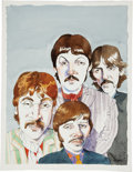 Paintings, JOE CIARDIELLO (American 20th Century). The Beatles. Ink and watercolor on board. 17 x 13 in.. Signed lower right. ...