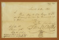 Autographs:Statesmen, Samuel Houston Manuscript Document Signed as President of Texas....