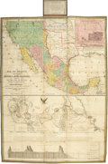 Books:Early Printing, Mitchell, S[amuel] Augustus. Map of Mexico, including Yucatan& Upper California, Exhibiting the Chief Cities andTowns,...