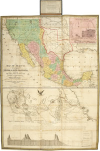 Mitchell, S[amuel] Augustus. Map of Mexico, including Yucatan & Upper California, Exhibiting the Chief Cities a
