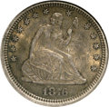 Seated Quarters, 1876-CC 25C AU58 NGC. NGC Census: (22/137). PCGS Population(16/135). Mintage: 4,944,000. Numismedia Wsl. Price for NGC/PCG...