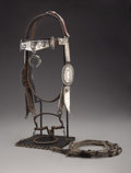 American Indian Art:Jewelry and Silverwork, A NAVAJO SILVER HEADSTALL. c. 1915...
