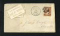 National Bank Notes:Tennessee, Bristol, TN - The NB of Bristol January 12, 1887 2¢ Stamped Cover Ch. # 2796. This is an approximate 6 by 3 inch envelope fo...