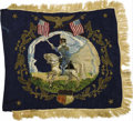 """Military & Patriotic:Civil War, Cavalry Flag of 3rd New York """"Hussars"""" This exquisite and quite rare style of embroidered flag belonged to Capt. George W. S..."""