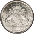 German States:Bremen, German States: Bremen. Free City: Charles VII 2 Taler 1744-MF,KM187, Davenport 2050, MS64 PCGS, a remarkable example with fullbrilliant m...