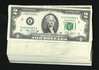 Fr. 1935-K $2 1976 Federal Reserve Notes. Forty-seven Examples. Choice Crisp Uncirculated. Almost all of these notes hav...