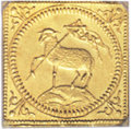 German States:Nurnberg, German States: Nurnberg. Free City gold 1/2 Ducat Klippe 1700-GPN, KM256, AU58 ICG, an attractive example with sharp details and considerab...