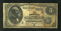 Dothan, AL - $5 1882 Date Back Fr. 537 The Dothan NB Ch. # 5909 This $5 grades Very Good with aged paper and some s
