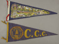 Political:Advertising, Civilian Conservation Corps: Two Felt Pendants,... (Total: 2 Items)