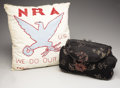 Political:Advertising, National Recovery Act of 1933: Pillow and Handbag. ... (Total: 2Items)