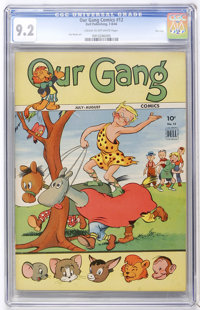 Our Gang #12 File Copy (Dell, 1944) CGC NM- 9.2 Cream to off-white pages