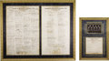 Autographs:U.S. Presidents, Franklin D. Roosevelt: His Cabinet, the Congress, the Senate, andthe Supreme Court, Signatures on Three Documents.... (Total: 4Items)