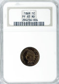 Proof Indian Cents, 1869 1C PR65 Red NGC....