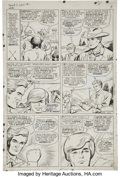 Dick Ayers and Vince Colletta - Ghost Rider #1 page 8 Original Art