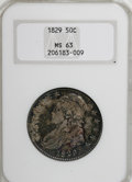 Bust Half Dollars, 1829 50C Small Letters MS63 NGC....