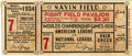 Baseball Collectibles:Tickets, 1934 World Series Game 7 Ticket Stub. The 1934 World Series waswrapped up in seven games when the Gas House Gang St. Louis...