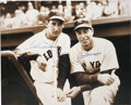 Autographs:Photos, Joe DiMaggio and Ted Williams Dual-Signed Oversized Photograph. Two of the greatest sluggers to grace a baseball field are ...