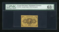 Fractional Currency:First Issue, Fr. 1230 5c First Issue PMG Choice Uncirculated 63 EPQ....