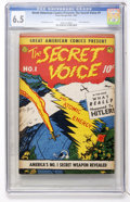 Golden Age (1938-1955):Non-Fiction, Great American Comics Presents - The Secret Voice #1 (PeterGeorge/American Features Syndicate, 1945) CGC FN+ 6.5 Cream tooff...