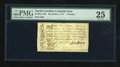 Colonial Notes:North Carolina, North Carolina December, 1771 £1 PMG Very Fine 25....