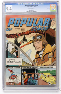 Popular Comics #104 File Copy (Dell, 1944) CGC NM 9.4 Off-white pages
