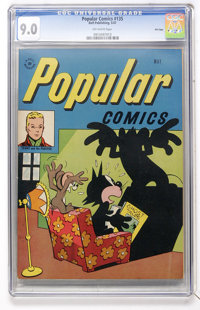 Popular Comics #135 File Copy (Dell, 1947) CGC VF/NM 9.0 Off-white pages
