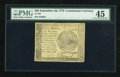 Colonial Notes:Continental Congress Issues, Continental Currency September 26, 1778 $60 PMG Choice ExtremelyFine 45....