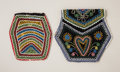 American Indian Art:Beadwork and Quillwork, TWO EASTERN WOODLANDS BEADED CLOTH POUCHES. c. 1890...