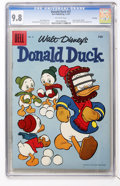 Silver Age (1956-1969):Humor, Donald Duck #51 File Copy (Dell, 1957) CGC NM/MT 9.8 Off-white pages....