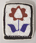American Indian Art:Beadwork and Quillwork, A WINNEBAGO BEADED CLOTH NEEDLE CASE. c. 1890...