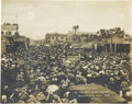 Western Expansion:Goldrush, 20,000 Spectators at the Drilling Contest, Goldfield, Nevada, ca.1906.. ...
