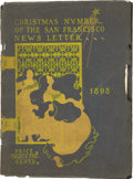 Miscellaneous:Booklets, Publication, Christmas Number of the San Francisco Newsletter, SanFrancisco, California, 1898.. ...
