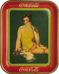 Advertising:Trays, 1939 Girl in Swim Suit Coca-Cola Tray....