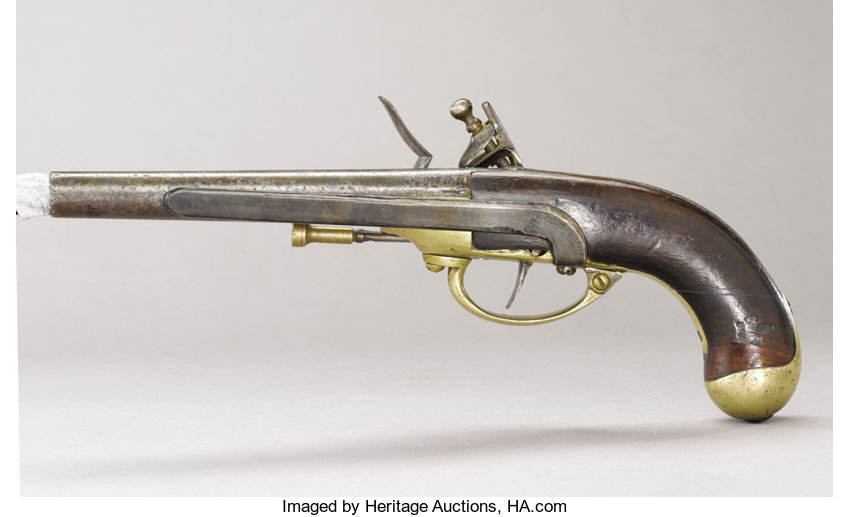 French M1777 Flintlock Pistol, the Standard French Issue