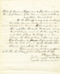"Western Expansion:Cowboy, Autograph Document Signed Judge ""Roy Bean"" County of Pecos, Texas1882...."
