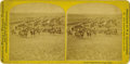 Western Expansion:Cowboy, Stereoview of Custer's Expedition on the Plains by Illingworth,1874. ...